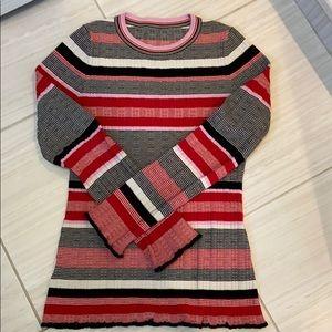 Ann Taylor cotton/poly/spandex striped sweater